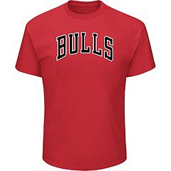 Men's Majestic Chicago Bulls Wordmark Tee