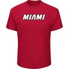 Men's Majestic Miami Heat City Wordmark Tee