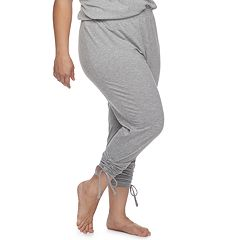 Plus Size SONOMA Goods for Life™ Ruched Drawstring Lounge Pants