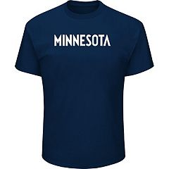Men's Majestic Minnesota Timberwolves City Wordmark Tee