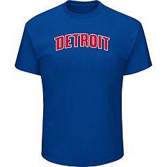 Men's Majestic Detroit Pistons City Wordmark Tee