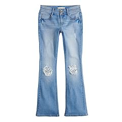 Girls 7-16 & Plus Size Mudd® Crochet Accent Bootcut Jeans