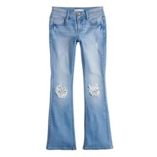 Girls 7-16 & Plus Size Mudd® Crochet Accent Bootcut Jeans