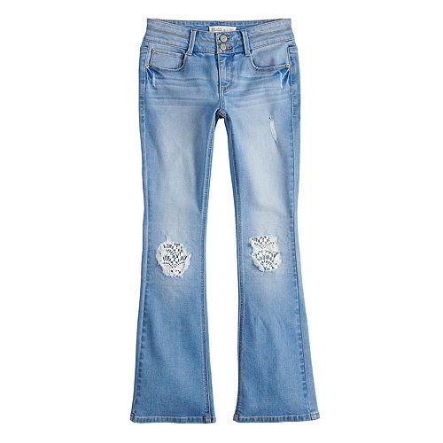 Girls 7 16 Plus Size MuddR Crochet Accent Bootcut Jeans