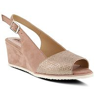 Spring Step Evia Women's Wedge Slingback Sandals
