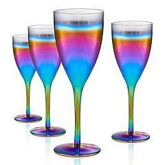 Artland 4-piece Rainbow Goblet Set
