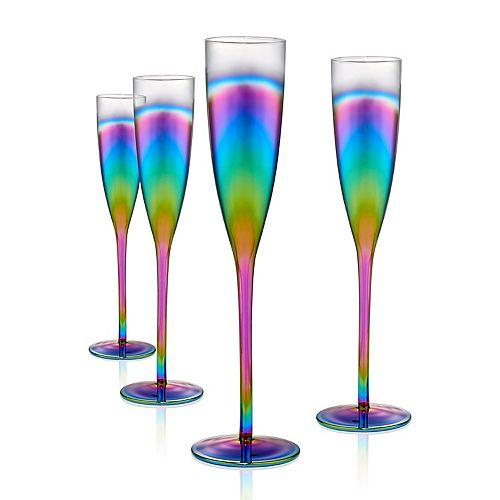 Artland 4-piece Rainbow Champagne Flute Set