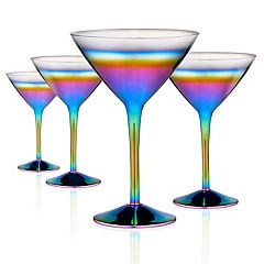 Artland 4-piece Rainbow Martini Glass Set