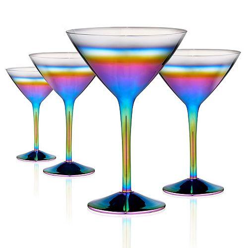 Artland 4-piece Rainbow Martini Glass Set