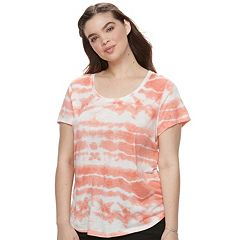 Juniors' Plus Size Mudd® Slubbed Scoopneck Tee