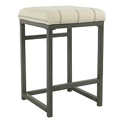 HomePop Open Back Metal Counter Stool