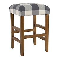 HomePop Square Plaid Counter Stool