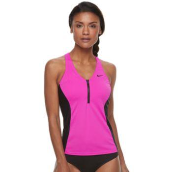 Women's Nike Colorblock Racerback Tankini Top