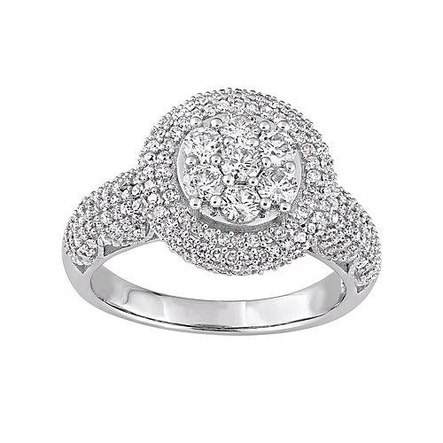 Stella Grace Lovemark 10k White Gold 2 Carat T.W. Diamond Cluster Ring