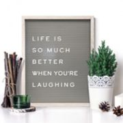 "New View 20"" x 16"" Gray Letter Board Wall Decor 190-piece Set"