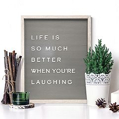New View 20' x 16' Gray Letter Board Wall Decor 190-piece Set