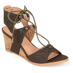 Journee Collection Minny Women's Ghillie Wedge Sandals