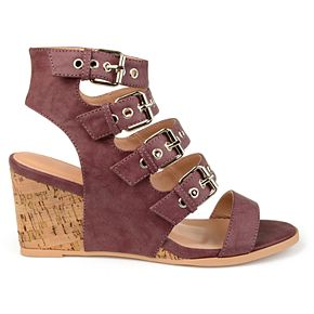 Journee Collection Monika ... Women's Wedge Sandals outlet how much discount authentic QsFXNn7