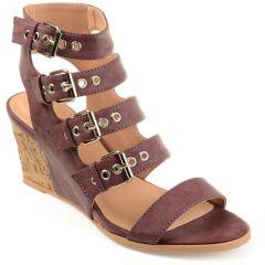 Womens Purple Wedges Sandals Shoes Kohls