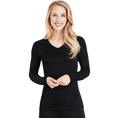 Plus Size Cuddl Duds Softwear V-Neck Top