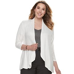 Plus Size Apt. 9® Open-Front Cardigan