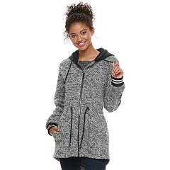 madden NYC Juniors' Cinch-Waist Fleece Jacket