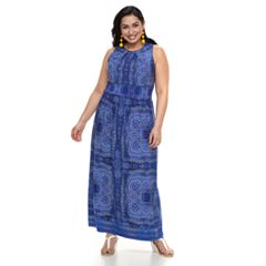 Plus Size Suite 7 Pleat Maxi Dress