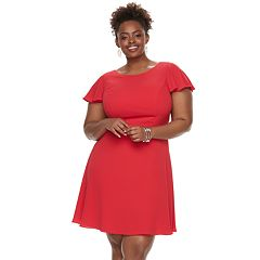 Plus Size Suite 7 Ruffle Fit & Flare Dress