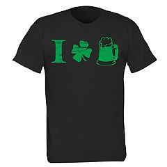 Big & Tall 'I Love Green Beer' Clover Leaf Tee