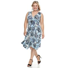 Plus Size Suite 7  Floral Sleeveless Dress