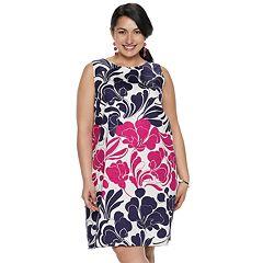 Plus Size Suite 7 Floral Shift Dress