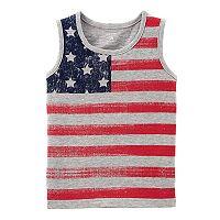 Boys 4-8 Carter's American Flag Tank Top