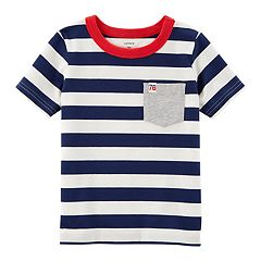 Boys 4-8 Carter's Striped Pocket Tee