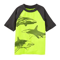 Boys 4-8 OshKosh B'gosh® Sharks Raglan Rash Guard