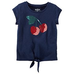 Toddler Girl OshKosh B'gosh® Sequin Graphic Knot-Front Tee