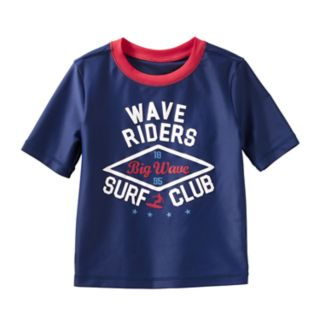 "Boys 4-8 OshKosh B'gosh® ""Wave Riders Surf Club"" Rash Guard"