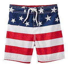 Boys 4-8 OshKosh B'gosh® American Flag Swim Trunks