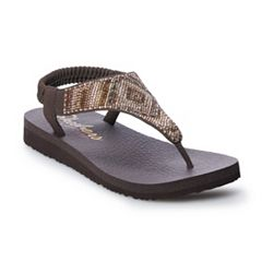 Women's Skechers Meditation Beaded Slingback Thong Sandals