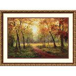 Amanti Art Framed Art Print A Beautiful Walk in the Fall