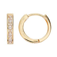 Dana Buchman Simulated Crystal Hoop Earrings