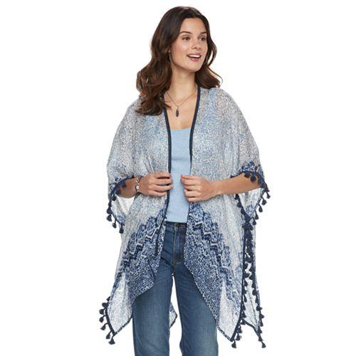 Women's SONOMA Goods for Life™ Tasseled Paisley Kimono