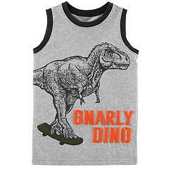 Boys 4-8 Carter's 'Gnarly Dino' Dinosaur Skateboarding Graphic Tank Top