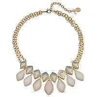 Dana Buchman Marquise Inlay Collar Necklace