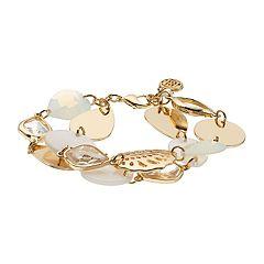 Dana Buchman Bead & Stone Double-Strand Bracelet