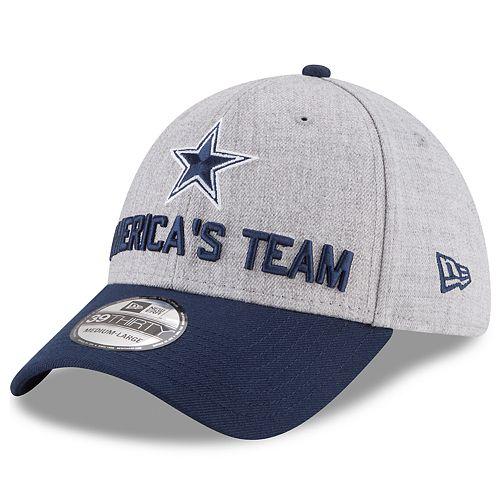 Adult New Era Dallas Cowboys Draft 39THIRTY Flex-Fit Cap 577775f83f55