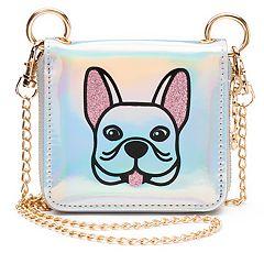 Glitter Animal Mini Crossbody Wallet