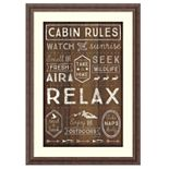 Amanti Art Framed Art Print Cabin Rules