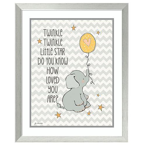 Amanti Art Framed Art Print Twinkle Love Elephant