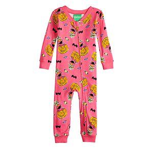 2ff8dbbe70fd Baby Girl Sesame Street Elmo Halloween Coverall