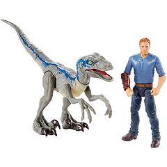 Jurassic World: Fallen Kingdom Story Pack 2 - Velociraptor 'Blue' & Owen Figure Set